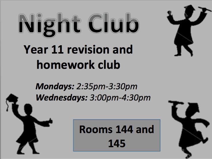 Year 11 Revision Night Club